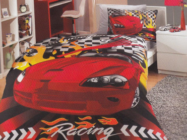 Lenjerie Car Racing (Bumbac Poplin)