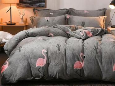 Lenjerie Flamingo Grey (Cocolino)