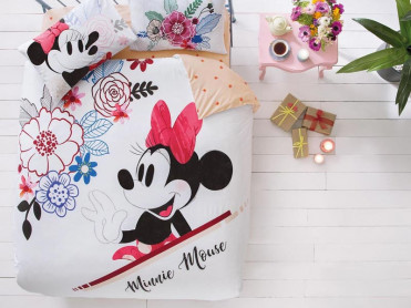 Lenjerie Copii Minnie Mouse Watercolour (Bumbac 100%)