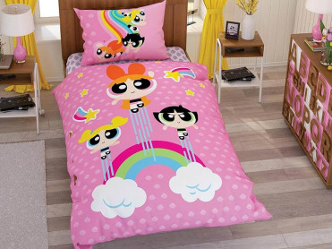 Lenjerie Copii Power Puff Girls (Bumbac 100%)