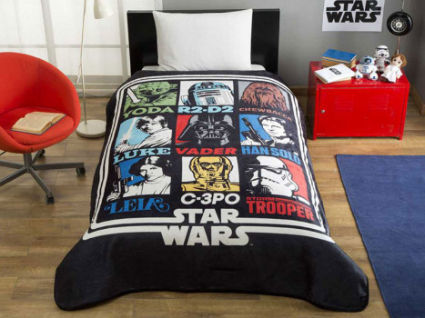 Patura 1 Persoana Star Wars Force 160x220 cm
