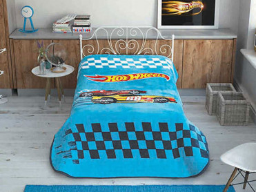 Patura 1 Persoana Hot Wheels Race 160x220 cm