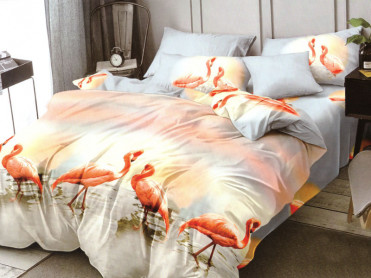 Lenjerie Flamingo Sunset 6 Piese (Finet)