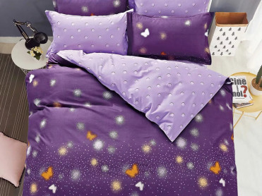 Lenjerie Purple Sky (Bumbac Satinat)