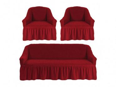 Set 3 Huse pentru canapea si fotolii Irma Bordo