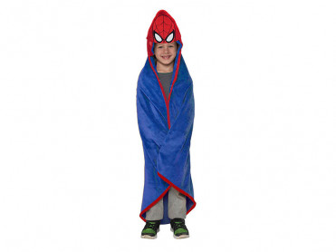 Patura pentru copii, cu gluga, Spider-Man, 100x100 cm