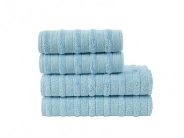 Set 4 Prosoape, 50x100 si 70x140 cm, TBH1341 Albastru (Bumbac 100%)