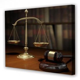 Tablou Canvas About Law, Dreptunghiular, Diverse Marimi