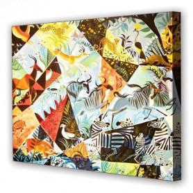 Tablou Canvas Abstract Animals, Dreptunghiular, Diverse Marimi