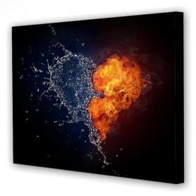 Tablou Canvas Apa si Foc, Dreptunghiular, Diverse Marimi