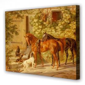 Tablou Canvas Armonia Animalelor, Dreptunghiular, Diverse Marimi