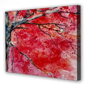 Tablou Canvas Copac Rosu, Dreptunghiular, Diverse Marimi