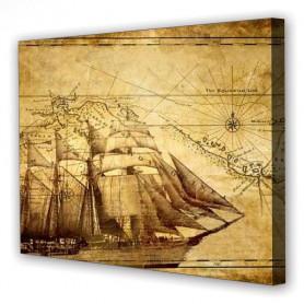 Tablou Canvas Corabie, Dreptunghiular, Diverse Marimi