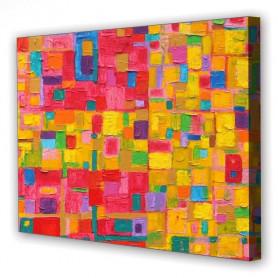 Tablou Canvas Culori Vii, Dreptunghiular, Diverse Marimi