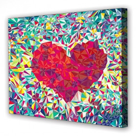Tablou Canvas Dragoste sub forma de Romb, Dreptunghiular, Diverse Marimi