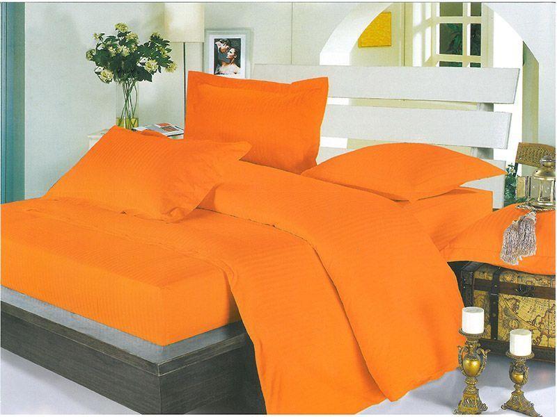 Lenjerie Alma Orange (Bumbac 100% Damasc)