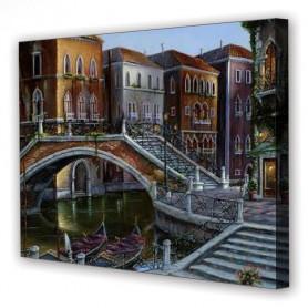 Tablou Canvas Strazi Venetia, Dreptunghiular, Diverse Marimi