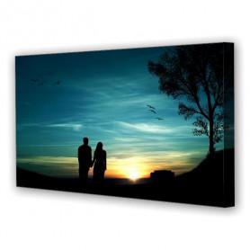 Tablou Canvas Iubire la Apus, Panoramic, Diverse Marimi