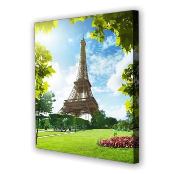 Tablou Canvas Turnul Eiffel Verde, Patrat, Diverse Marimi