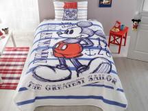 Lenjerie si Cuvertura Copii Mickey Sailor (Bumbac 100%)