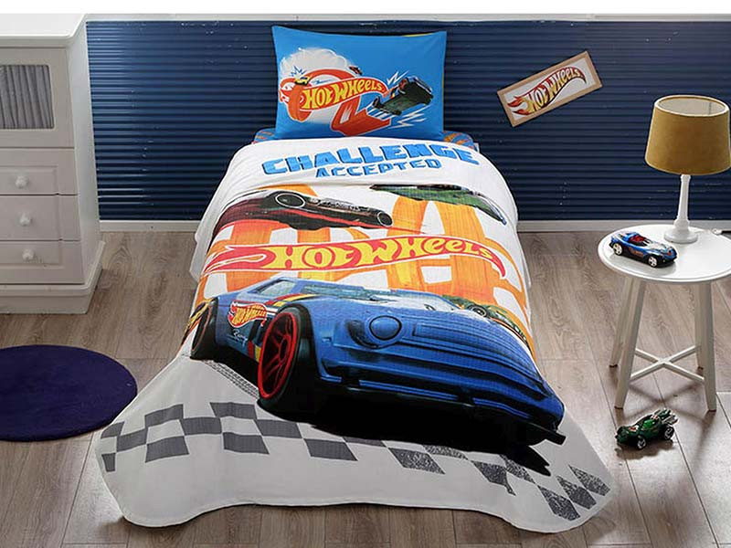 Lenjerie si Cuvertura Copii Hot Wheels Challenge (Bumbac 100%)