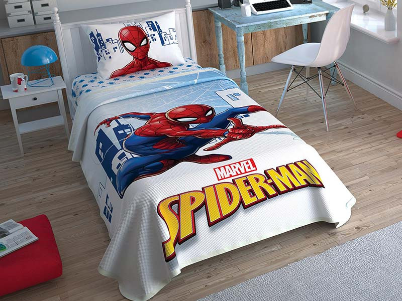 Lenjerie si Cuvertura Copii Spider-Man Attack (Bumbac 100%)