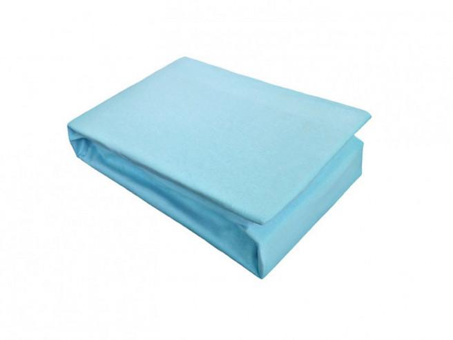 Husa de Pat si 2 Fete de Perna tip Jersey, Albastru, 160x200 cm (Bumbac 100%)