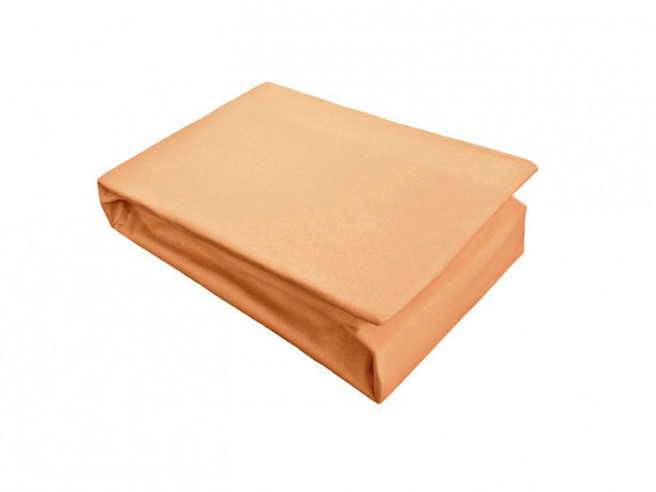 Husa de Pat si 2 Fete de Perna tip Jersey, Orange, 160x200 cm (Bumbac 100%)