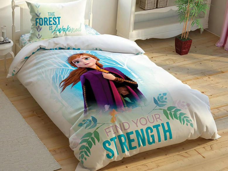 Lenjerie Fluorescenta Copii Disney Frozen Strength (Bumbac 100%)