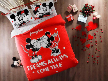 Lenjerie Copii Minnie & Mickey Dreams (Bumbac 100%)