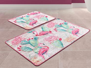 Set 2 Covorase de Baie Flamingo
