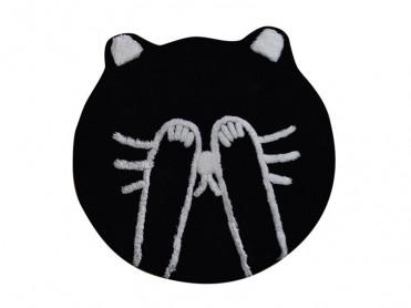 Covoras de Baie Shy Cat Negru (Acryl)