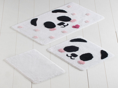 Set 3 Covorase de Baie Panda (Acryl)