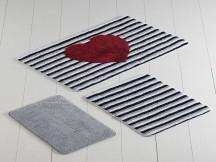 Set 3 Covorase de Baie Heart Line (Acryl)