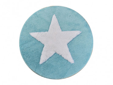 Covoras de Baie rotund All Star Turcoaz (Acryl)