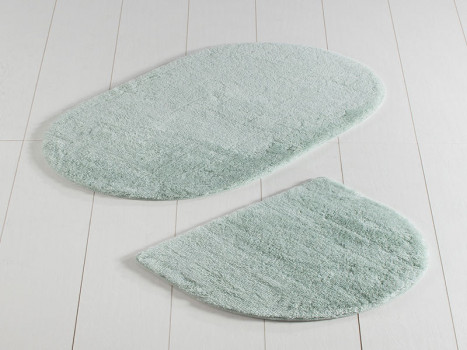 Set 2 Covorase de Baie Colors of Oval Mint (Acryl)