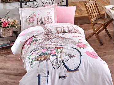 Lenjerie Copii Paris Love (Bumbac 100%)