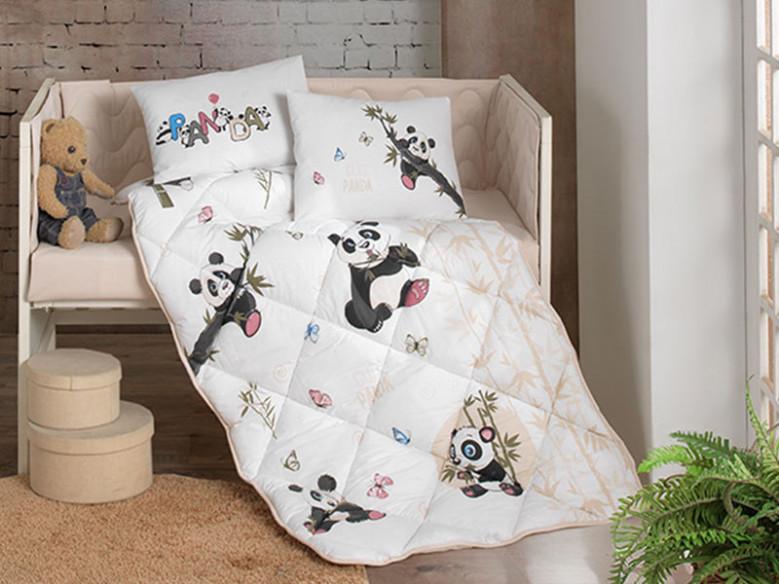 Set Complet Lenjerie Patut Bebe Panda (Bumbac 100%)