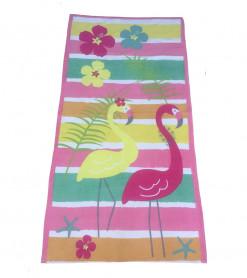 Prosop de Plaja Flamingo Rainbow (Bumbac 100%)