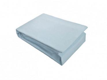 Husa de Pat tip Jersey, Bleu, 100x200 cm (Bumbac 100%)