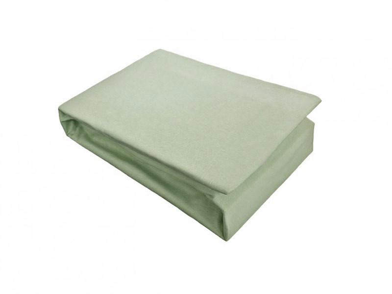Husa de Pat tip Jersey, Verde Pal, 100x200 cm (Bumbac 100%)