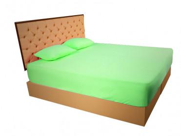 Husa de Pat tip Frotir, Verde, 160x200 cm (Bumbac 100%)