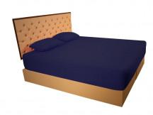 Husa de Pat tip Frotir, Bleumarin, 100x200 cm (Bumbac 100%)