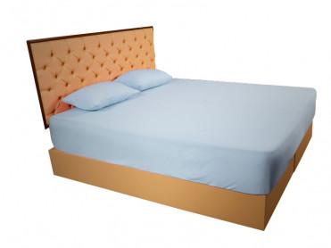 Husa de Pat tip Frotir, Bleu, 100x200 cm (Bumbac 100%)