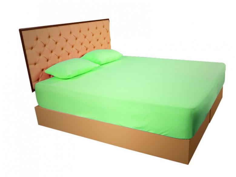 Husa de Pat si 2 Fete de Perna tip Frotir, Verde, 160x200 cm (Bumbac 100%)