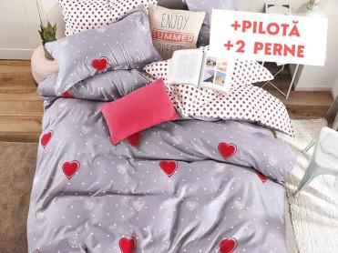 Pachet Lenjerie + Pilota + Perne Grey Love (Finet)