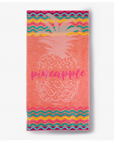 Prosop de Plaja Velour Pineapple, 80x150 cm (Bumbac 100%)