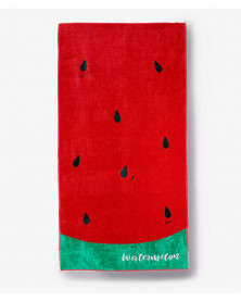 Prosop de Plaja Velour Watermelon, 80x150 cm (Bumbac 100%)