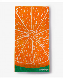 Prosop de Plaja Velour Orange, 80x150 cm (Bumbac 100%)