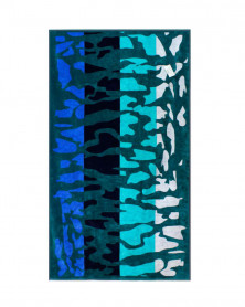Prosop de Plaja Velour Safari Blue, 95x180 cm (Bumbac 100%)